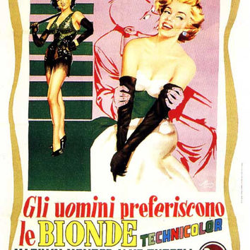 Gentlemen Prefer Blondes (Italian) 11x17 Movie Poster (1953)