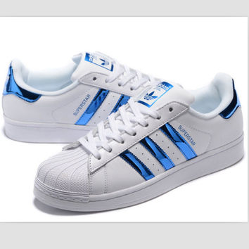 """Adidas"" Fashion Shell-toe Flats Sneakers Sport Shoes Blue"
