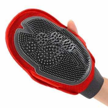 Pet Dog Grooming Glove Massage Bath Duplex Mitt Large Dog Brush Combs dog Massage Shower Brushes 26*16cm