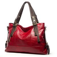 Chispaulo Solid Genuine Leather Handbags Women Ac0083