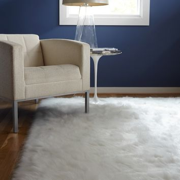 Jungle Sheep Skin White Rug (3' x 5') | Overstock.com Shopping - The Best Deals on 3x5 - 4x6 Rugs