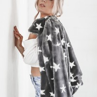 Light Up My Life Black & White Star Printed Jacket