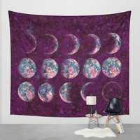 Celestial Moons Wall Tapestry by Bohemian Gypsy Jane