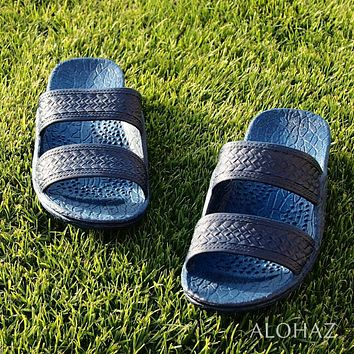 navy blue classic jandals® -  pali hawaii sandals