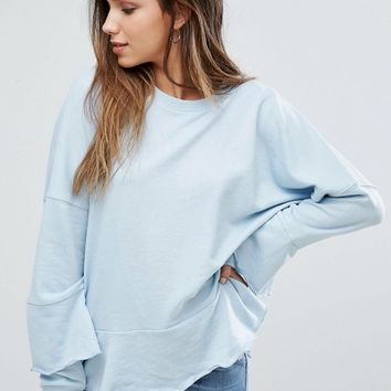 Missguided Ruffle Trim Sweatshirt at asos.com