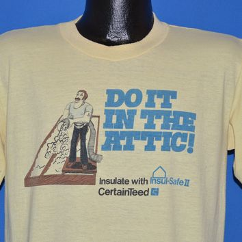 80s Do It In The Attic Insulation Funny t-shirt Large