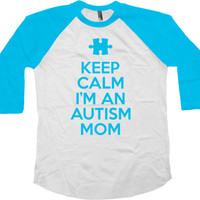 Autism Mom Shirt Awareness T Shirt Autistic Gifts For Mom Gift Ideas Advocate Speaks Spectrum Keep Calm Autism Mom Baseball Raglan Tee-SA773