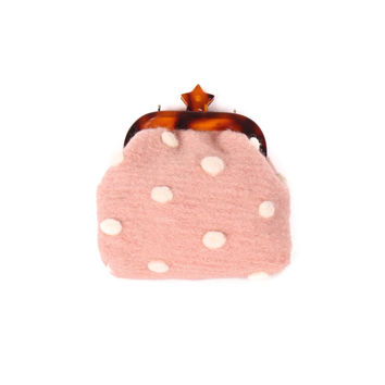 3D Polka Wool Cross Body Bag