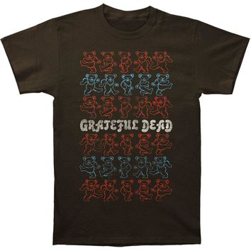Grateful Dead Men's  Dancing Bears Slim Fit T-shirt Coal Rockabilia