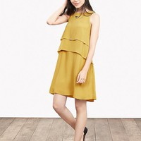 Banana Republic Womens Tiered Crepe Dress