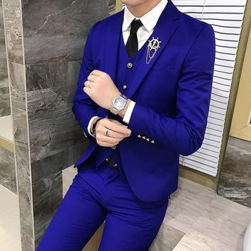 Multi Color Selection Men's Suit Jackets Business Wedding Banquet Male Suit Jacket Slim Fit Men Coats 2018 New Man Blazer