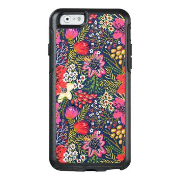 Vintage Bright Floral Pattern Fabric OtterBox iPhone 6/6s Case