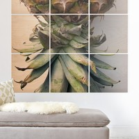 Deb Haugen Pineapple 2 Wood Wall Mural