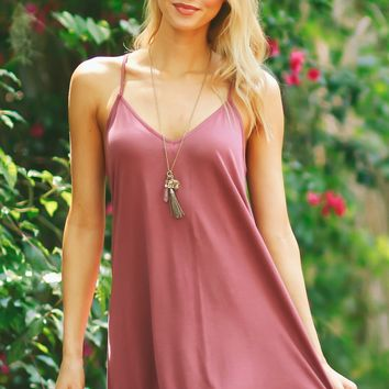 Hey Girl Basic Dress Wine