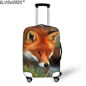 ELVISWORDS Protective Suitcase Cover Travel On Road Luggage Cover Elastic Cloth Dust Protector Fox for 18-30 Inch Trolley Case