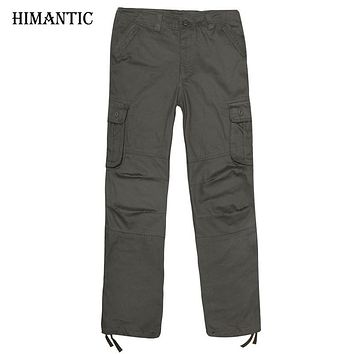 New Men Cargo Pants Casual Pant Multi Pocket Military Overall High Quality Men Outdoors Long Trousers
