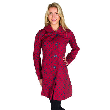 Red Rain Coat  with Blue Polka Dots by Hatley
