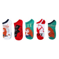 Disney Brave No-Show Socks 5 Pair