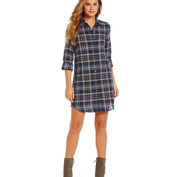 Sam Edelman Sam Plaid-Print Tunic Shirt Dress | Dillards