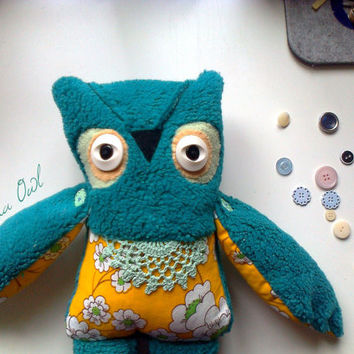 Martha owl , soft art creature toy by Wassupbrothers.