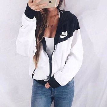"""Cool NIKE"" Hooded Zipper Cardigan Sweatshirt Jacket Coat Windbreaker Sportswear"