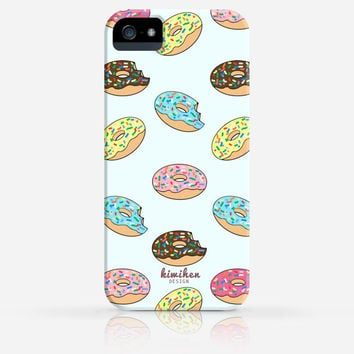 Donuts Pattern iPhone 4 Case, iPhone 4s Case, iPhone 5 Case, iPhone 5s Case, iPhone Hard Plastic Case