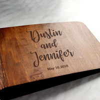 Wedding Guest Book Rustic Wedding Guest Book Custom Guest book Personalised Wedding Guest Book Alternative