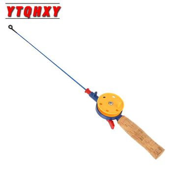 YTQHXY Ice Fishing Rod 1 Sections Fishing Rods With Reel Gear  42cm/45cm/43.5cm/43.5cm Mini Winter Ice Pole Fishing Tackle WQ443