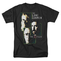 X Files Men's  Lone Gunmen T-shirt Black Rockabilia