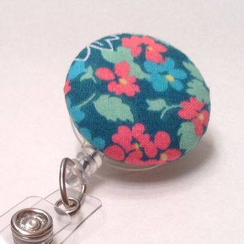 Badge Reel, Retractable Badge Holder, Nurse Key Card Holder, Swivel Badge Clip, ID Holder, Name Badge Holder, Retractable Lanyard, Flower