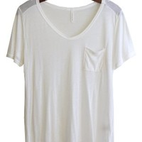 Flimsy Boyfriend Tee, Ivory - Back in Stock