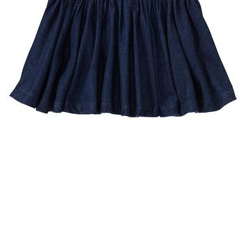 Gap Baby Chambray Flared Skirt Size 18-24 M - denim
