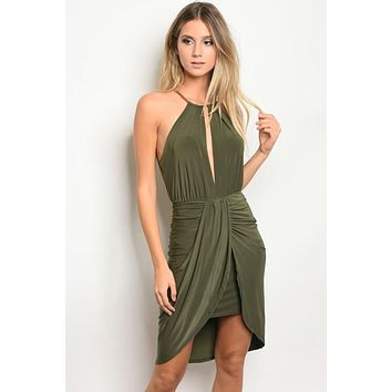 Olive Night Dress