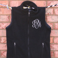 Monogrammed Fleece Vest by CatalystPromotions on Etsy