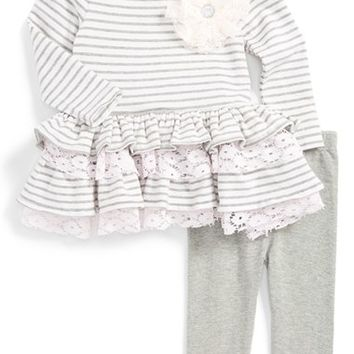 Infant Girl's Pippa & Julie Ruffle Top & Leggings