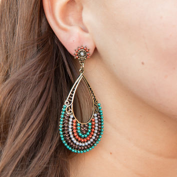 Bali Nights Earrings - Teal