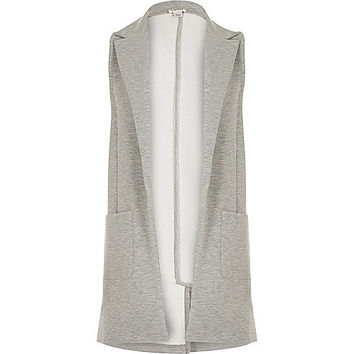 River Island Girls grey sleeveless jersey blazer