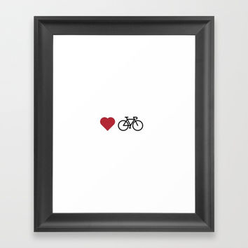 love my bike Framed Art Print by Love from Sophie