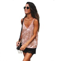 Summer Sexy Women Crop Tops Sleeveless Deep Chiffon Camis Clothes Tops Off Shoulder Womens gallus Tank Tops