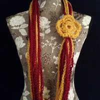color: Maroon and Gold // Sports Accessory Scarf, Team Colors, School Colors, Student Gift, Teen Women Infinity Scarf, Phoenix, Iron Man