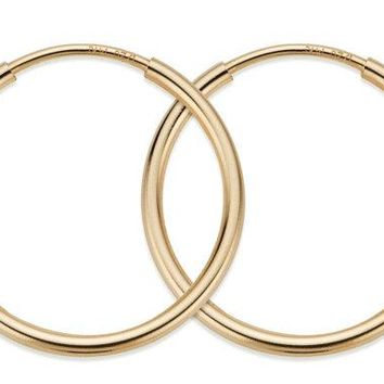 12 mm 14K Gold Filled Hoop Earrings