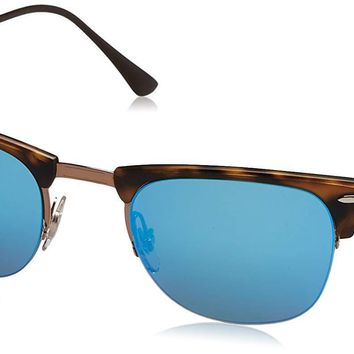 Ray-Ban RB8056 175/55 Clubmaster Tortoise Frame Blue Mirror 51mm Lens Sunglasses