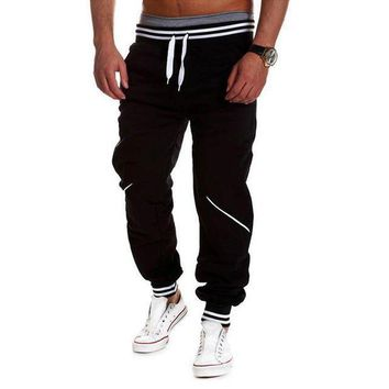 DCCKON3 plus sizeMens joggers pantselastic waist cotton sweatpants male casual loose long trousers pantalon homme