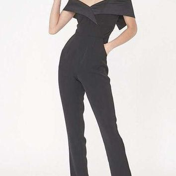 Alexis Black Off Shoulder Jumpsuit