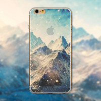 """Fashion Ultra thin soft silicon Mountain landscape scenery case  for iphone 6 4.7"""" Luxury Transparent cell phone back housing"""