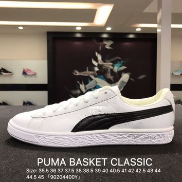 Puma Suede Classic Basket White Black Casual Shoes Sneaker - 362892-22