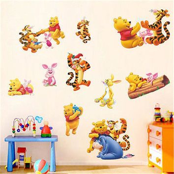 Winnie the POOH Tiger Piglet Wall Decal Vinyl Mural Sticker Kids Nursery Decor