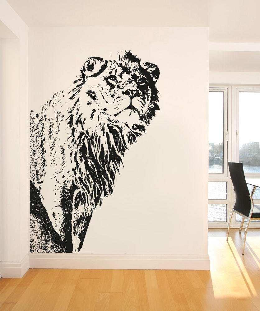 Vinyl Wall Decal Sticker Big Lion #OS_AA542. Full Size ... Part 89