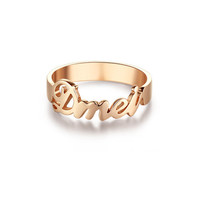 Personalized monogram ring - name ring on 925 Sterling Silver ring - WJDZ