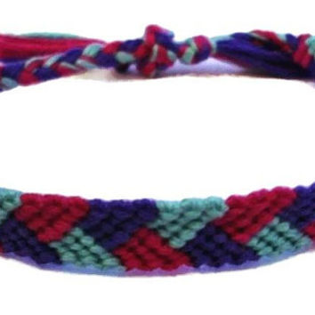 Spring Colored Braid Pattern Macrame Embroidery Friendship Bracelet